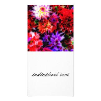 glowing flowers (C) Card