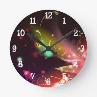 Glowing Flowers & Flourishes: Wall Clock
