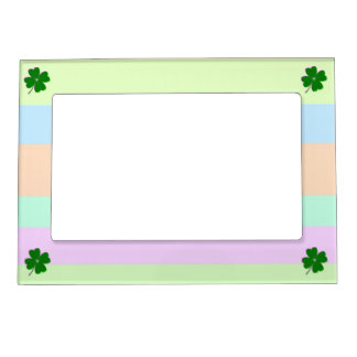 Glowing Four Leaf Clover Magnetic Picture Frame