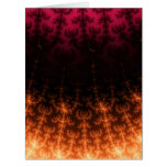 Glowing Fractal Dusk - gold, black and fuschia Large Greeting Card