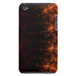 Glowing Fractal Dusk - gold, black and fuschia iPod Touch Cover