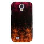 Glowing Fractal Dusk - gold, black and fuschia Samsung Galaxy S4 Covers