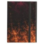 Glowing Fractal Dusk - gold, black and fuschia iPad Folio Case