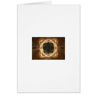 Glowing Fractal Frame Greeting Card