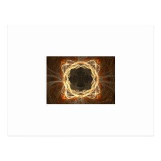 Glowing Fractal Frame Postcard