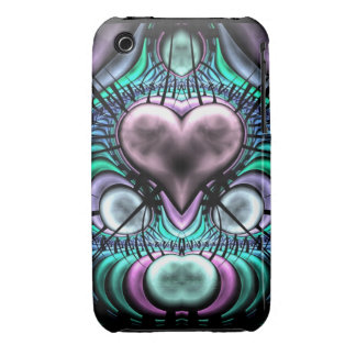 Glowing Fractal Heart Case-Mate iPhone 3 Case