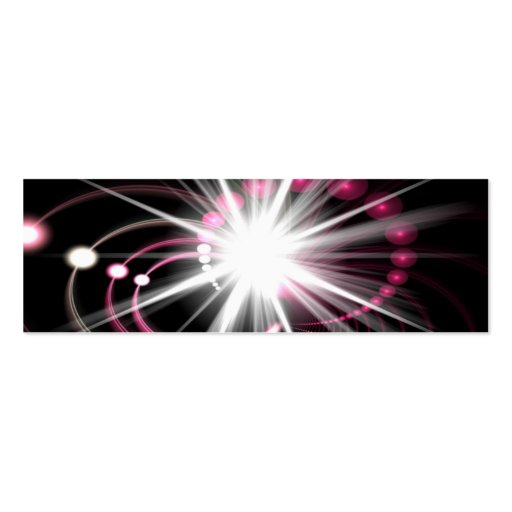 Glowing Fractal Lens Burst - The Coolest Double-Sided Mini Business Cards (Pack Of 20)