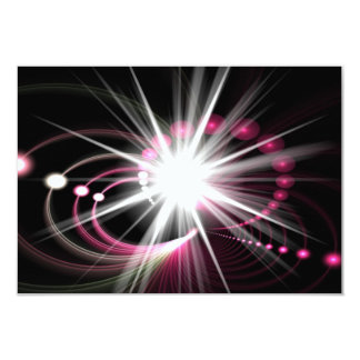 Glowing Fractal Lens Burst - The Coolest 3.5x5 Paper Invitation Card