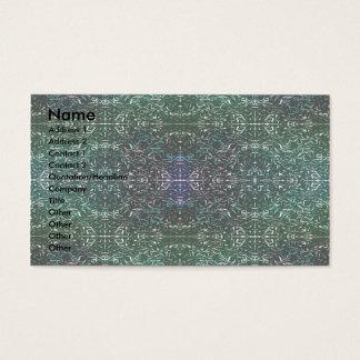 """Glowing Future of Neon"" Line Digital Art Business Card"