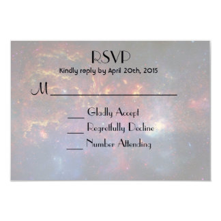 Glowing Galaxy in Outer Space RSVP Card