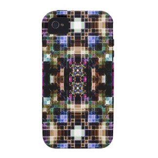 Glowing Geometric Cubes Case-Mate iPhone 4 Cover