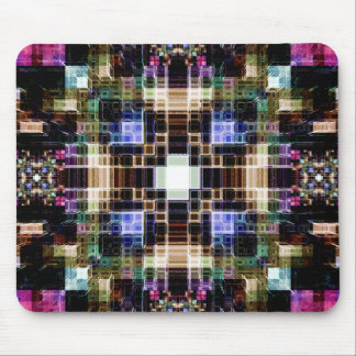 Glowing Geometric Cubes Mouse Pad