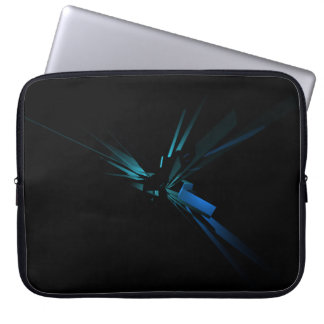 Glowing Geometry of Blue And Green Laptop Computer Sleeve
