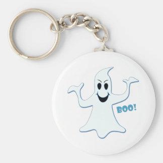 Glowing GHOST Boo! Design Key Chain