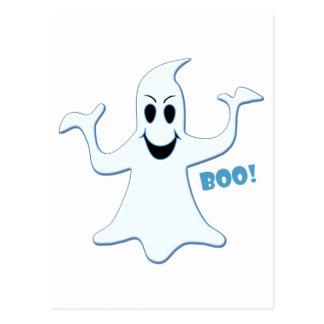 Glowing GHOST Boo! Design Postcard