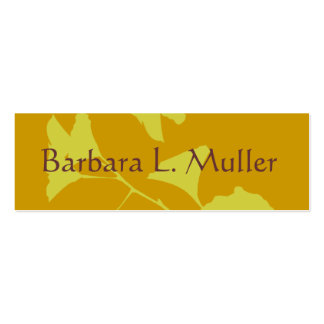 Glowing Ginkgo Tree Branch with Leaves Business Card Templates