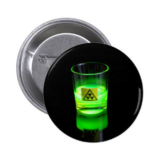 Glowing Glass Pinback Button