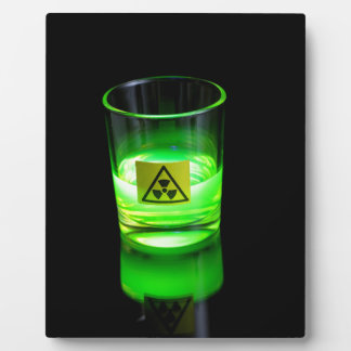 Glowing Glass Plaque