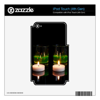 Glowing Glass with Candles Skin For iPod Touch 4G