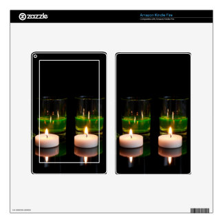 Glowing Glass with Candles Skins For Kindle Fire