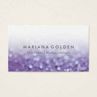 Glowing Glittering Bokeh | Glitter Business Card