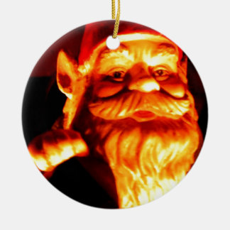 Glowing Gnome Double-Sided Ceramic Round Christmas Ornament