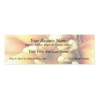 Glowing Golden Zinnia Business Card Templates