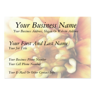 Glowing Golden Zinnia Business Cards