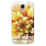 Glowing Golden Zinnia Samsung Galaxy S4 Covers
