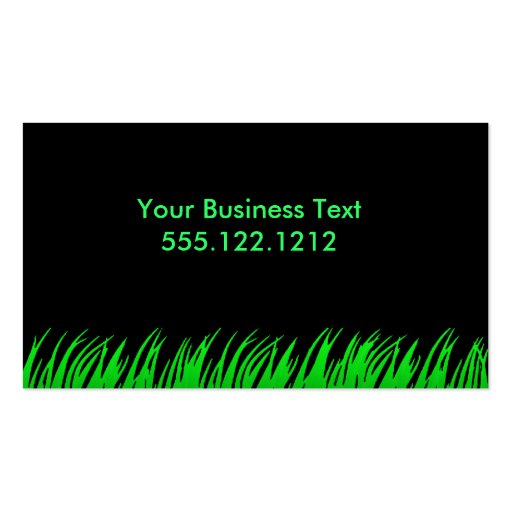 Glowing Grass Business Card