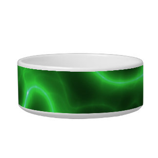 Glowing Green Abstract Electricity Bowl