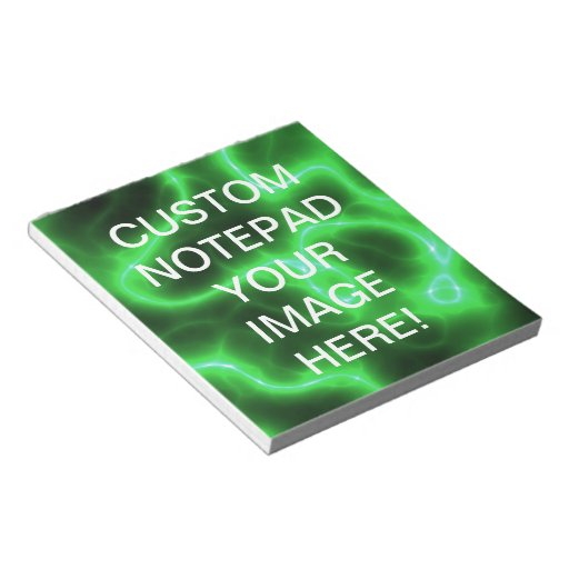 Glowing Green Abstract Electricity Note Pad