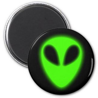 Glowing Green Alien Magnet