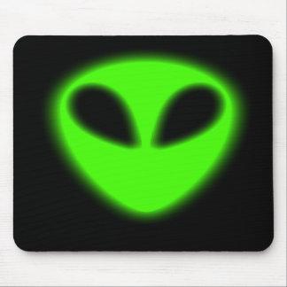 Glowing Green Alien Mousepad