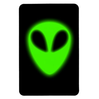 Glowing Green Alien Premium Flexi Magnet