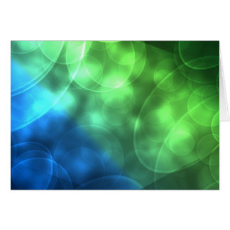 Glowing Green and Blue Card