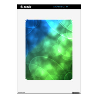 Glowing Green and Blue iPad Decals