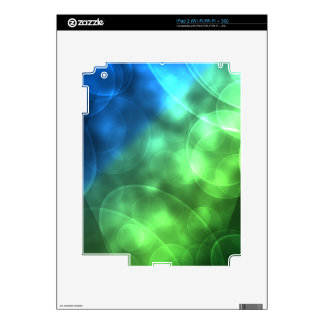 Glowing Green and Blue Decal For iPad 2