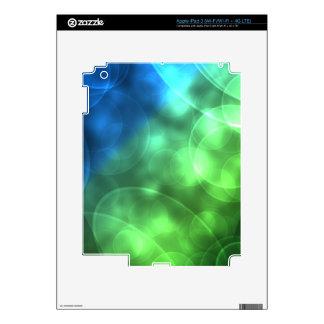 Glowing Green and Blue iPad 3 Skin