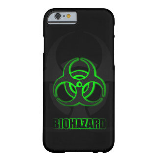 Glowing Green Biohazard Symbol Barely There iPhone 6 Case