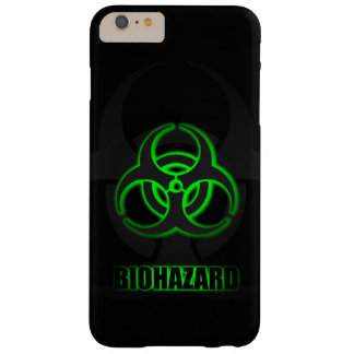 Glowing Green Biohazard Symbol Barely There iPhone 6 Plus Case