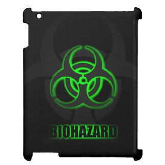 Glowing Green Biohazard Symbol Case For The iPad 2 3 4