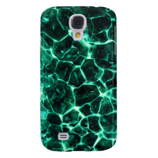 Glowing green crystals samsung galaxy s4 covers