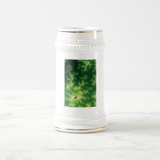 Glowing Green Fractal Beer Stein