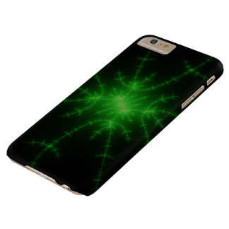 Glowing Green Fractal Explosion Barely There iPhone 6 Plus Case