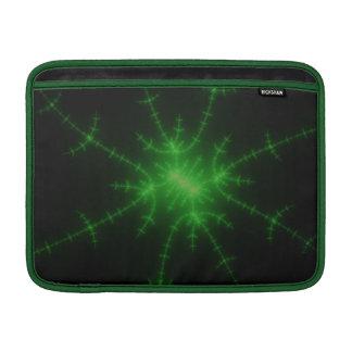 Glowing Green Fractal Explosion Sleeve For MacBook Air