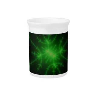 Glowing Green Fractal Explosion Pitcher