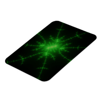Glowing Green Fractal Explosion Rectangle Magnets