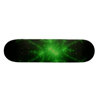 Glowing Green Fractal Explosion Custom Skateboard