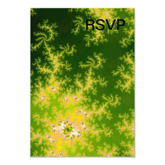 Glowing Green Fractal Invitation